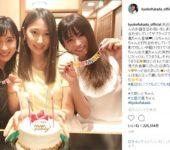 深田恭子、土屋太鳳、大野いと美女3姉妹ショット→深キョン以外の二人は引き立て役だね笑